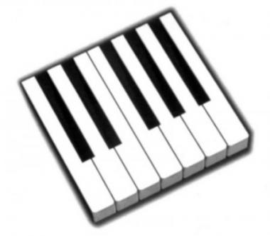 Накладки клавіатури кремові 52 мм.