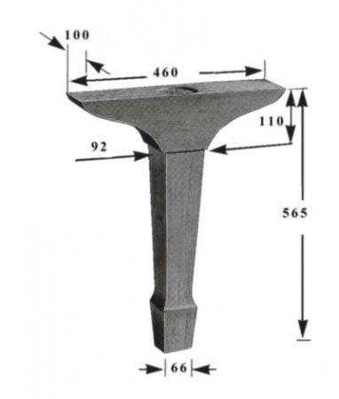 Ножки для конц. рояля (3 шт.)